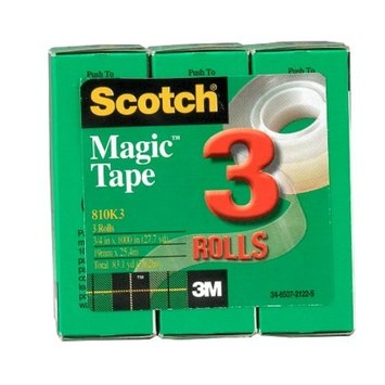 Scotch Magic Tape 3 Rolls