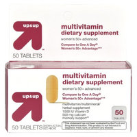 Up & Up Women's 50+ Multivitamin Tablets 50-pk.