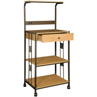 Home Source Industries Microwave Cart: Microwave Oven Kitchen Cart - Beech