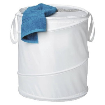 Honey-Can-Do Large Nylon Pop Open Hamper White