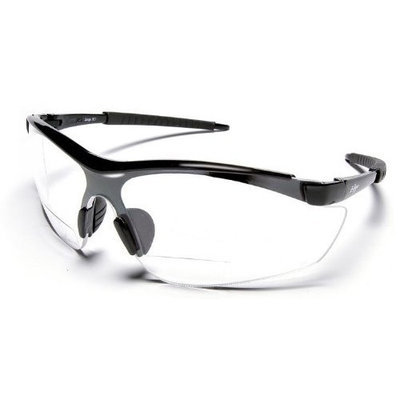 Edge Safety Glasses Grizzly H7196 Bifocal Magnifiers Black/Clear 2.5x