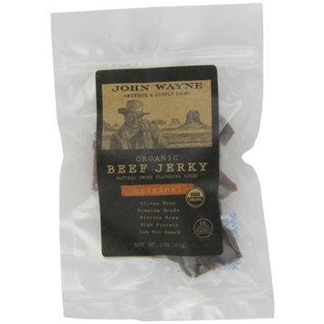 John Wayne Organic Beef Jerky, Original, 3-Ounce Bags (Pack of 8)