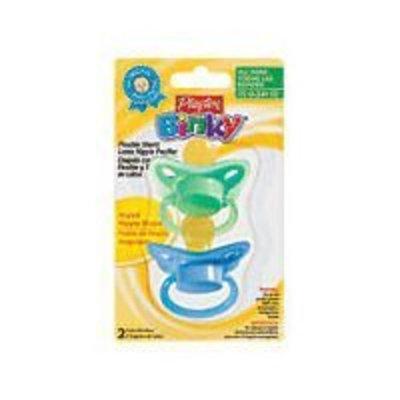Playtex Baby Binky Angled Latex Pacifiers: Blue-Green