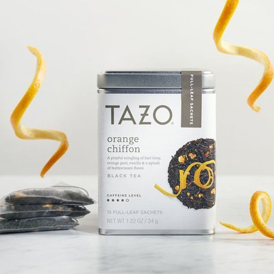 Tazo Orange Chiffon Full Leaf Tea Starbucks Black Tea