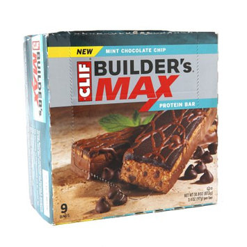 Clif Builder's MAX Mint Chocolate Chip, 9 ea