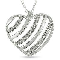 Amour 1/4 Carat Diamond Total Weight Heart Pendant With Chain