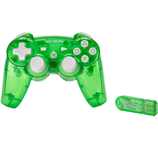 PDP Rock Candy Wireless Controller, Green (PS3)