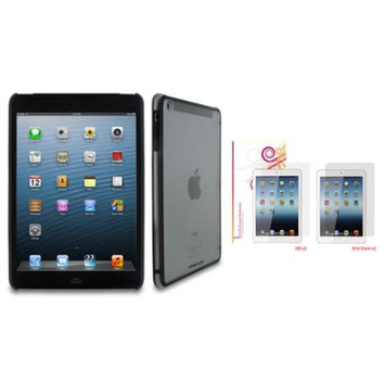rooCASE Fuse Shell Case Cover + 4-Pack LCD Film for iPad Mini Retina, Gray
