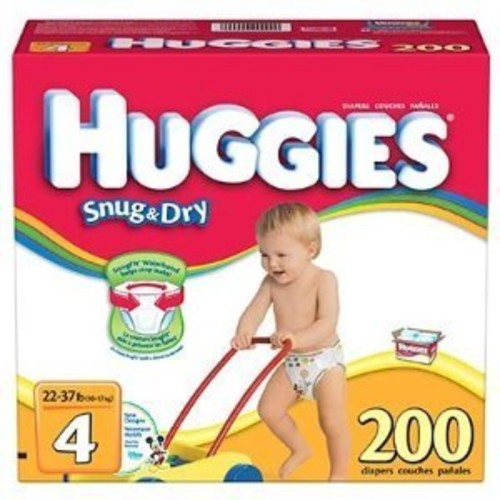 Huggies Size 4 Diapers 200 count