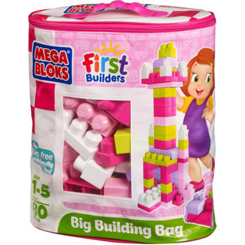 Mega Bloks First Builders Big Building Bag Pink - 80 pieces