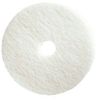 TOUGH GUY 4RY27 Buffing/Cleaning Pad,20 In, White, PK5