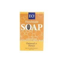 EO Unscented Sensitive Skin Bar Soap, Oatmeal & Honey, 4 Ounce