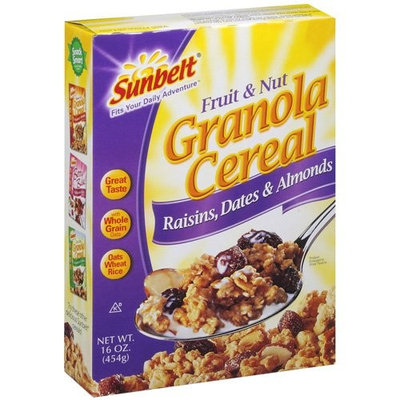 Sunbelt: w/Raisins, Dates & Almonds Fruit & Nut Granola Cereal, 16 Oz