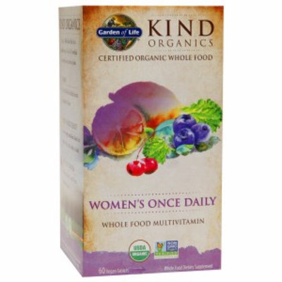 Garden of Life KIND Organics Women's Once Daily Multi, Vegan Tablets, 60 ea
