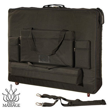 Royal Massage 32 Width Deluxe Black Universal Massage Table Carry Case w/Wheels