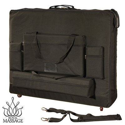 Royal Massage 28 Width Deluxe Black Universal Massage Table Carry Case w/Wheels