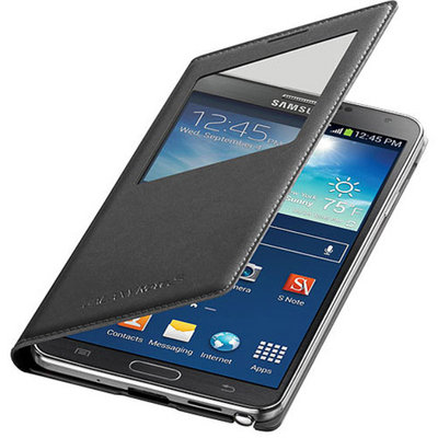 SAMSUNG MOBILE Samsung Galaxy Note 3 Wireless Charging Case S View Flip Cover Folio - White