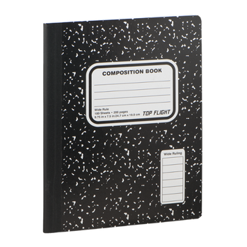 Top Flight Composition Book Wide Rule - 100 Sheets