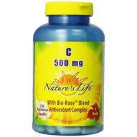 Nature's Life C, with Bio-Rosse Blend, 500 Mg, 250 Vegetarian Capsules