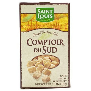 Saint Louis Pure Natural Amber Cane Sugar in Cubes from France 2 lbs 3.3 oz. /1 Kg