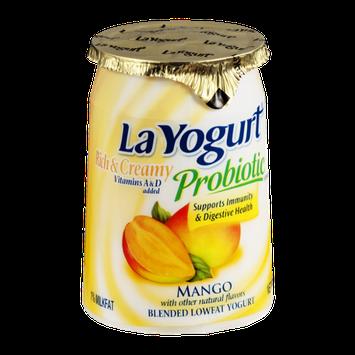 La Yogurt Probiotic Rich & Creamy Low Fat Yogurt Mango