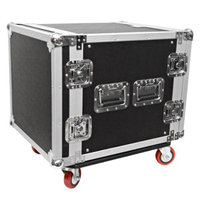Seismic Audio 10 SPACE RACK CASE Amp Effect Mixer PA/DJ~Wheel/Casters - SAR10.2