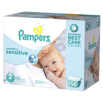 Pampers Swaddlers Sensitive Diapers Economy Plus Pack Size 2 (156