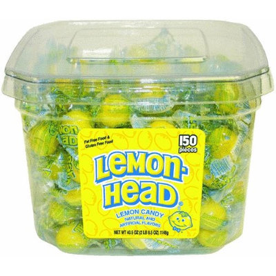 Lemonhead Individually Wrapped, Sour Lemon, 150 ea