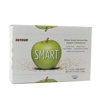 Detour SMART Whole Grain Oatmeal Bar, Apple Cinnamon, 9 ea