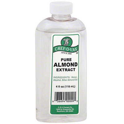Chef O Van Chef-O-Van Pure Almond Extract, 4 oz (Pack of 12)