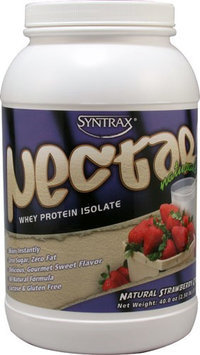 Syntrax Nectar Whey Protein Isolate Natural Strawberry 2.5 lbs