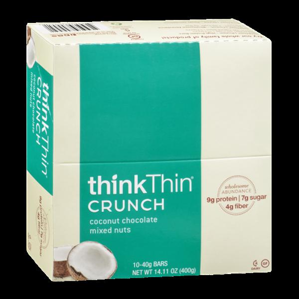 thinkThin Coconut Chocolate Mixed Nuts Crunch Bars