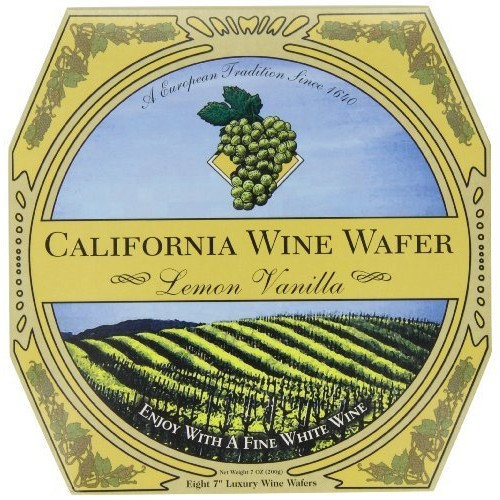 Sacramento Cookie Factory California Wine Wafer, Lemon Vanilla, 7-Ounces Boxes (Pack of 3)