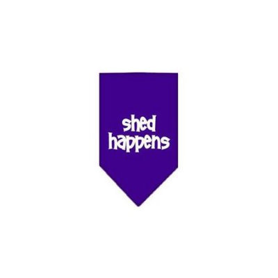 Ahi Shed Happens Screen Print Bandana Purple Small