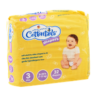 Cottontails Size 3 Diapers (16-28 lb) - 32 CT