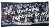 The Walking Dead Fear the Living, Fight the Dead Beach Towel 60 in.