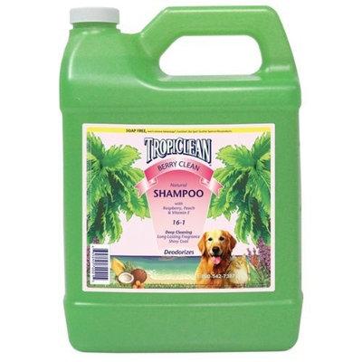 TropiClean Natural Berry Clean Pet Shampoo, 1-Gallon
