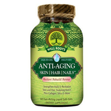 Well Roots Anti-Aging Skin Hair Nails, Softgels, 60 ea