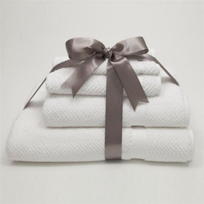 Linum Home Textiles Herringbone Towel: 4 Piece Combo Light Olive