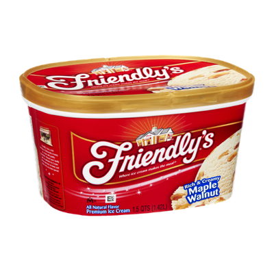 Friendly's Rich & Creamy Maple Walnut Premium Ice Cream