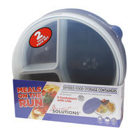 Cam Consumer Products, Inc. 2Pk Round Food Storage Meals On Run