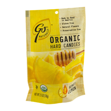 Go Naturally Organic Hard Candies Honey Lemon