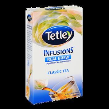 Tetley Infusions Real Brew Classic Tea Liquid Iced Tea Stix - 6 CT
