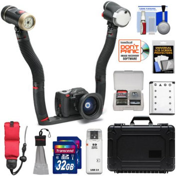 SeaLife DC1400 HD Underwater Digital Camera Sea Dragon Maxx Duo Set with Flash & Light + (2) 32GB Cards + Battery + Case + Float Strap + Kit