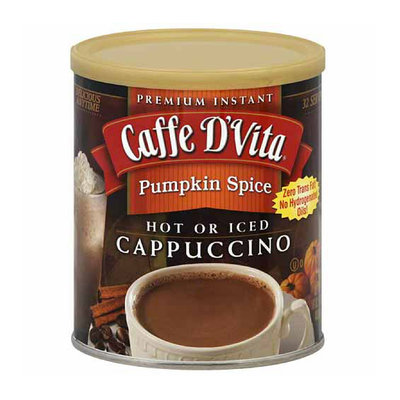 Caffe D'Vita Pumpkin Spice Hot or Iced Cappuccino