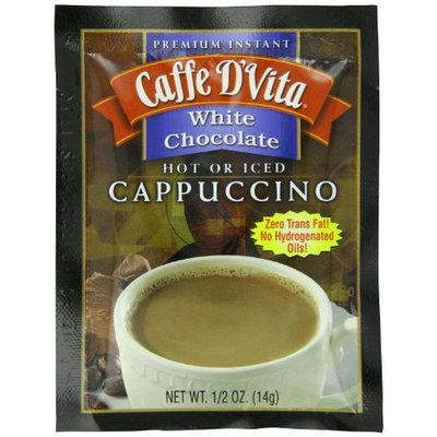 Caffe D'Vita White Chocolate Cappuccino, 0.5-Ounce Envelopes (Pack of 24)