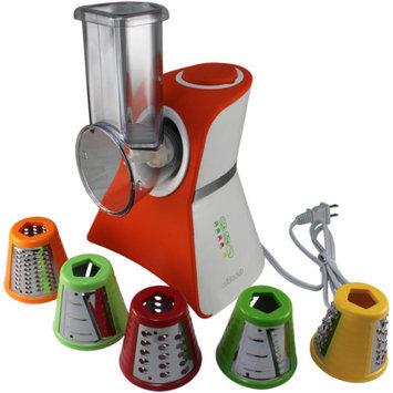 Cooks Club USA VC02ROR Salad Maker Mini Food Processor and Produce Shooter Rubberized Orange