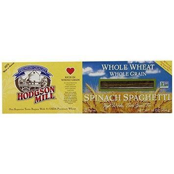 Hodgson Mill Whole Wheat Spinach Spaghetti, 16-Ounce (Pack of 12)