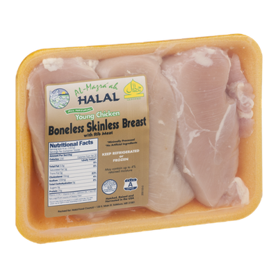 Al-Mazra'ah Halal Young Chicken Boneless Skinless Breast