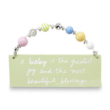C.r. Gibson Company C.R. GIBSON COMPANY Infant's Inspirational Quote Plaque - C.R. GIBSON COMPANY